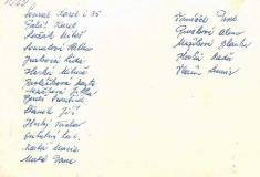 Seznam žáků zpředchozího snímku (rub fotografie)