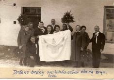 Rok 1962.Držení brány svatebčanům.