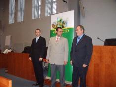 Miroslav Patočka (autor el. služby), Libor Koláčný (místostarosta), Jiří Staněk (starosta):